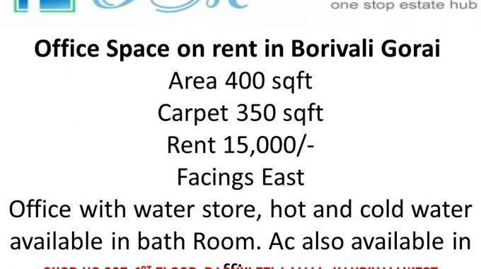 Office space on rent in Gorai Borivali west