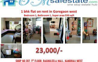 1 bhk Apartment on rent in goregaon west
