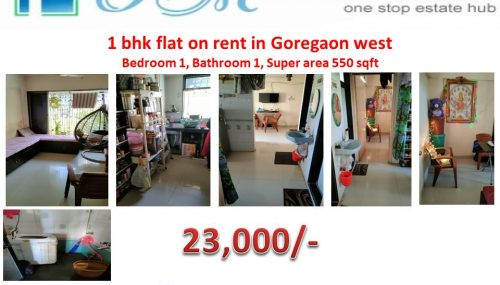 1 bhk Apartment on rent in goregaon west