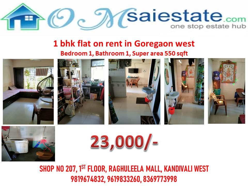 goregaon 1 bhk flat on rent